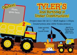 truck birthday party truck birthday invitations reduxsquad