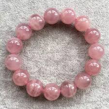 rose quartz beads bracelet images Aaa 14mm natural madagascar rose quartz crystal round beads jpg
