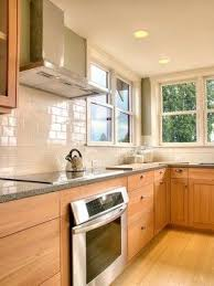 what backsplash goes with light wood cabinets crown hill remodel maple kitchen cabinets kitchen