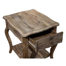 reclaimed wood end table alaterre arsa0125 rustic reclaimed wood end table homeclick com