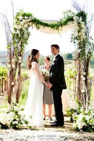 wedding arch garland birch arch with a draping garland wedding arch ideas