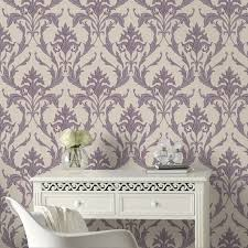 oxford cream purple wallpaper by graham and brown wallpaper