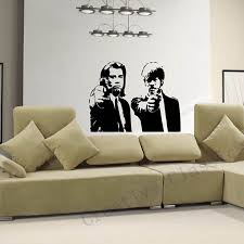 banksy home decor jules and vincent pulp fiction vinyl wall decal wall sticker mural