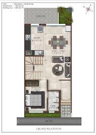 row house floor plan casa grande elan at thalambur in chennai 3 bhk villa row house