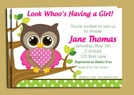 pink owl baby shower invitations uncategorized baby shower invitation cards superb invitation