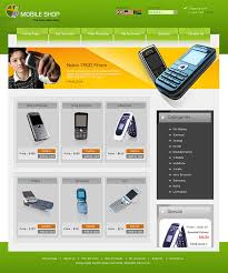 template site web for mobile shops