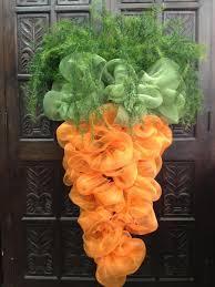 Easter Door Decorations Diy by Diy Carrot Mesh Door Decor Easter U0026 Spring Pinterest Carrots