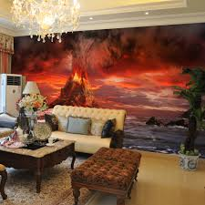 tv stand free shipping picture more detailed picture about high high quality modern desgin volcanic explosion 3d removable wall mural wallpaper photo self adhesive tv