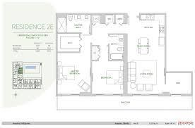 Square Meters by Aventura Parksquare 2e Floor Plan 2 Bedroom 2 Bath Den