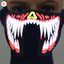 Halloween Costumes That Light Up by Face Mask Led Light Up Flashing Halloween Party Costume Dance
