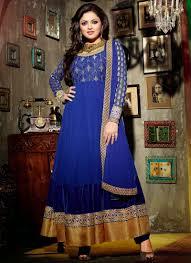 8 blue color madhubala girls wear dress dressanarkali