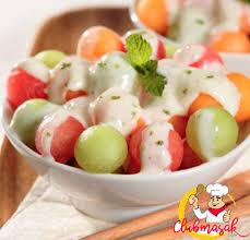 cara membuat yoghurt yang kental resep hidangan buah salad melon saus yoghurt salad buah untuk diet