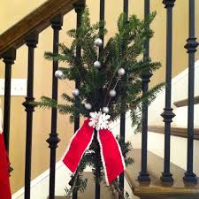Banister Decorations 100 Awesome Christmas Stairs Decoration Ideas Digsdigs