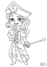 Coloriage Pirate fille dessin gratuit à imprimer