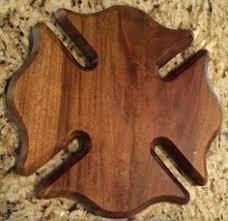 wooden maltese cross carved wooden maltese cross heroplaques maple firefighter