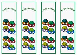 teenage mutant ninja turtles bookmarks themed bookmarks free