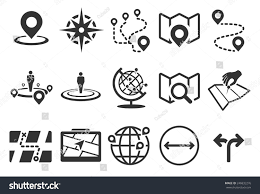 stock vector illustration map icons stock vector 246832276