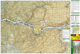 Mt Hood Trail Map Columbia River Gorge National Scenic Area National Geographic