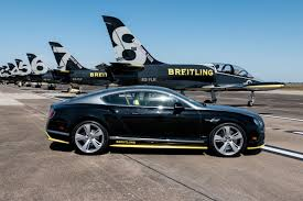 breitling bentley car flying high and upside down with the breitling jet team video