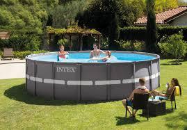 Intex 14 X 42 18ft X 52in Ultra Frame Pool Set Intex