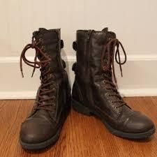 womens boots marshalls s marshalls shoes combat moto boots on poshmark