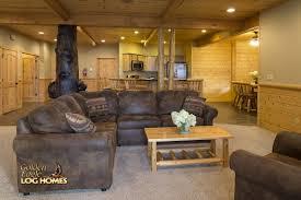 100 log home floor plans with basement golden eagle log