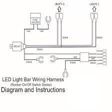 autos 40a roof led light bar wiring harness relay 5 pin rocker