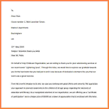 6 thank you letter for volunteer opportunity sales intro letter