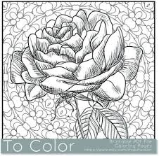 printable roses coloring pages adults 91060