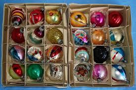 vintage christmas tree ornaments invitation template