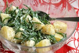 cuisiner salicorne salade tiède de pommes de terre et salicornes à l aïoli piment oiseau