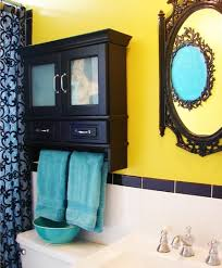 black and yellow bathroom ideas bright yellow black and torquoise what a combo bathroom
