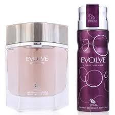 Parfum Evo ekoz evolve homme deodorant eau de parfum edp for set of 2