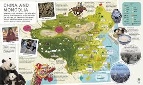 World Atlas Map Children U0027s Illustrated Atlas Dk 9781465435552 Amazon Com Books