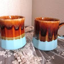 vintage drip glaze l shop vintage brown drip glazed pottery on wanelo