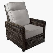 patio renaissance catalina cushion woven recliner cast silver