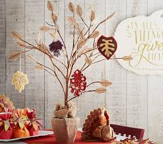 thanksgiving tree centerpiece pottery barn