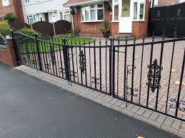 gate and fence black wrought iron fence ornamental gates wrought