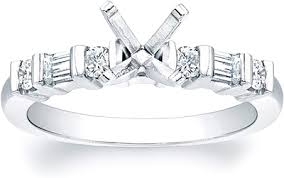 engagement rings with baguettes brilliant and baguette bar set engagement ring scs300e