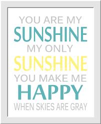 You Are My Sunshine Wall Decor Yellow Gray Baby Nursery Wall Art You Are My Sunshine Flower Burst
