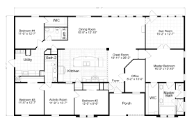 2500 Sq Ft House Plans Single Story by The Evolution Scwd76x3 Home Floor Plan Manufactured And Or