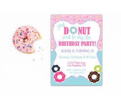 donut birthday invitation donut party doughnut birthday