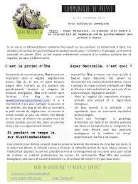 presse cuisine l atelier de cuisine bio et végétal naturelle communiqué de p