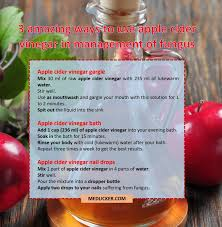 is apple cider vinegar a real remedy for fungus