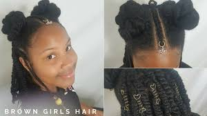 afro puff pocket bun hairstyles afro puffs cornrows hairstyle brown girls style