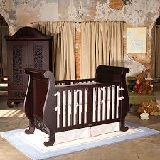 Sleigh Bed Cribs Chelsea Sleigh Crib In Espresso And Nursery Necessities In