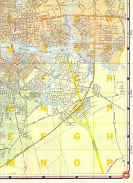 Map Of Norfolk Virginia by Portsmouth Virginia Street Map 1960