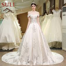 designer wedding dresses sl 83 designer wedding bridal gowns satin embroidered pearls bling