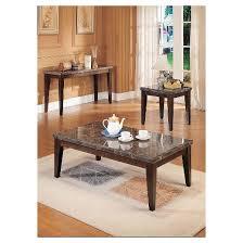 Walnut Sofa Table by Danville Coffee Table Black Marble U0026 Walnut Acme Target
