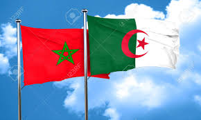 Algerian Flag Morocco Flag With Algeria Flag 3d Rendering Stock Photo Picture
